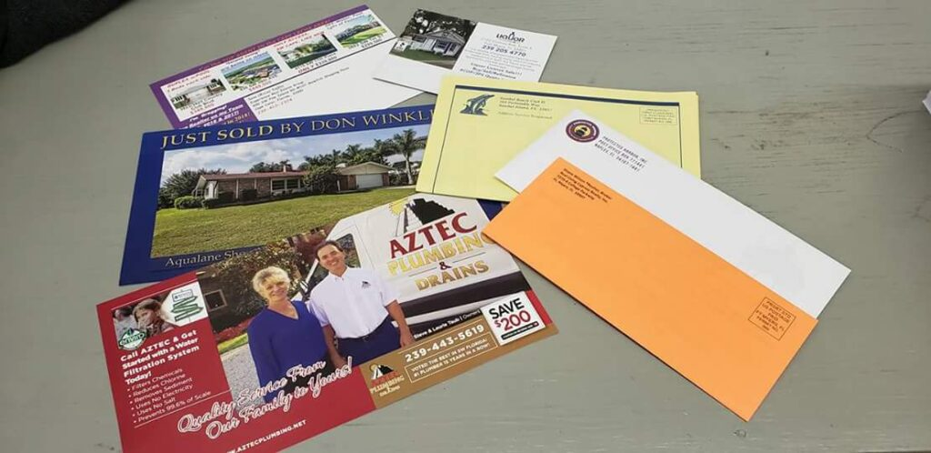 Direct mail postcards and newsletters in Cape Coral, FL